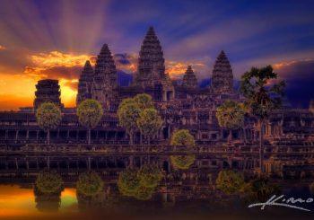 Sunrise at the Angkor Wat
