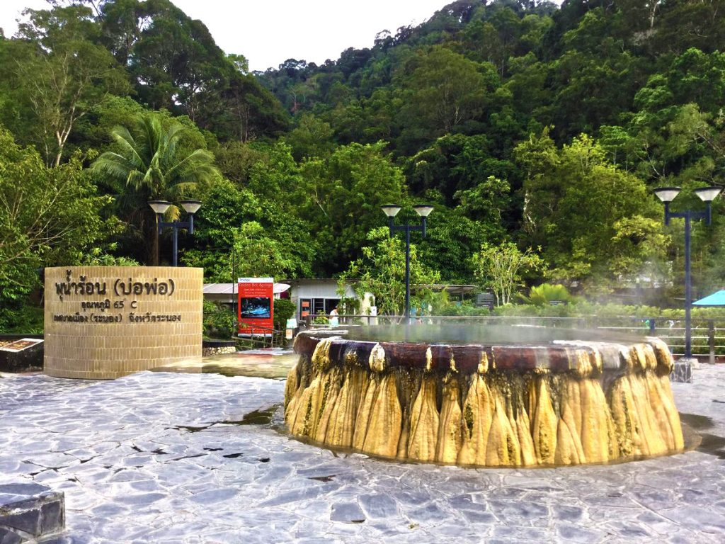 Hot Springs in Ranong province, Thailand